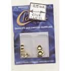 Door Knobs brass finish dollhouse miniature hardware CLA05689 6/pk 1/12 scale