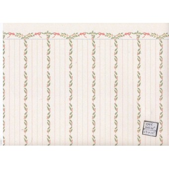 """Holly Stripe"" 1-12 scale wallpaper Jackson's Miniatures dollhouse 1pc JM91"