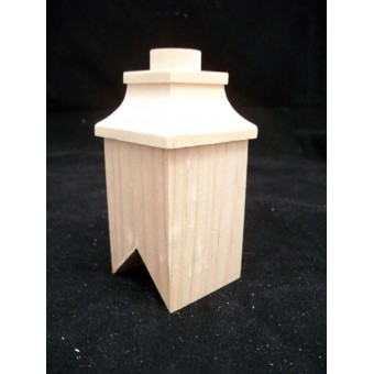 Chimney #6 roof 1/12 scale wooden dollhouse miniature #2406 1pc Houseworks