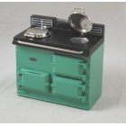 AGA Cook Stove - Green - 1.779/5 Reutter miniature dollhouse wooden 1/12 scale
