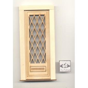 Door - Tudor Diamond  - 2325 wooden dollhouse miniature 1:12 scale USA made