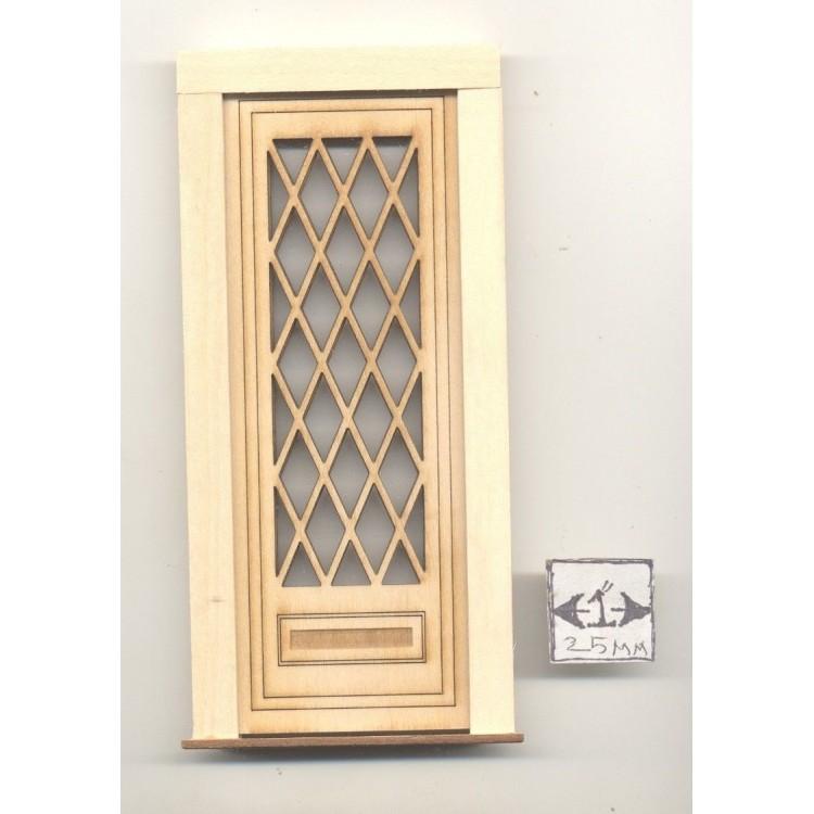 Door Tudor Diamond 2325 Wooden Dollhouse Miniature 1 12 Scale