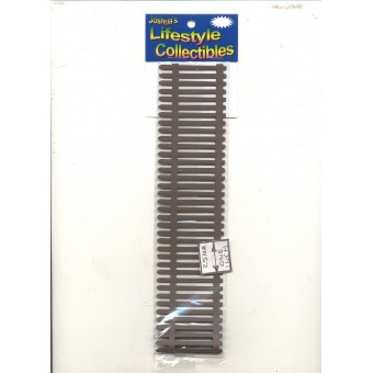 "Picket Fence - IM69034 dollhouse miniature 1/12 scale 1pc 18"" long metal"