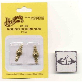 Doorknob Round  1/12 scale dollhouse miniature hardware  1105  Houseworks 1set