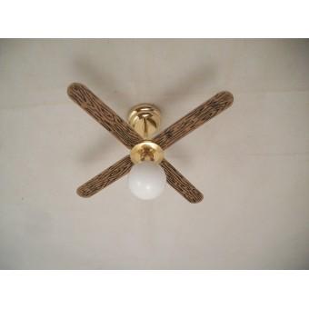 Light LED Ceiling Fan W/ Globe 2313 non-working fan dollhouse 1/12 scale