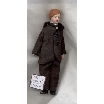 Porcelain Doll Victorian Man Father dollhouse miniature 1/12 scale  G7652