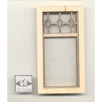 Window -  Diamond Top Style - 2186 wood dollhouse miniature 1:12 scale USA made