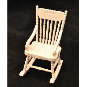 Rocking Chair White w/ Arms T5061  miniature dollhouse furniture wooden rocker