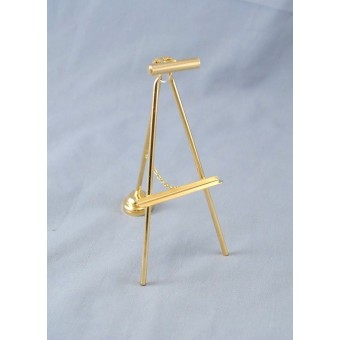 Light Brass Easel w/ Lamp 2343 replaceable battery dollhouse 1/12 scale