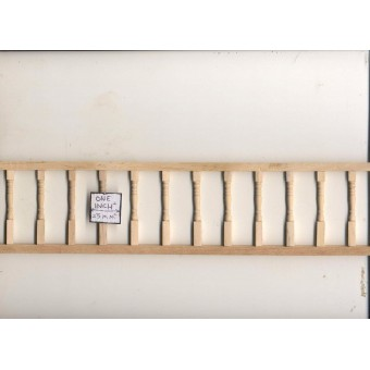 "Porch Railing - Assembled  T7035 1pc 12"" long unfinished wood 1/12 scale"