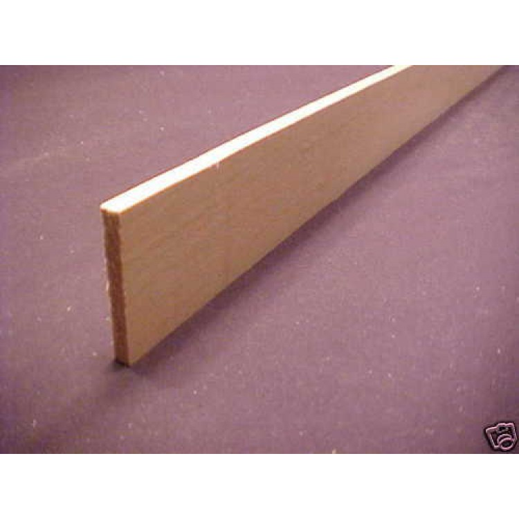 1 4 X 2 X 23 Basswood Model Lumber Strip Wood Flat Stock Carving