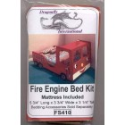 Fire Engine Bed FS410 dollhouse furniture kit Dragonfly 1/12 scale wood