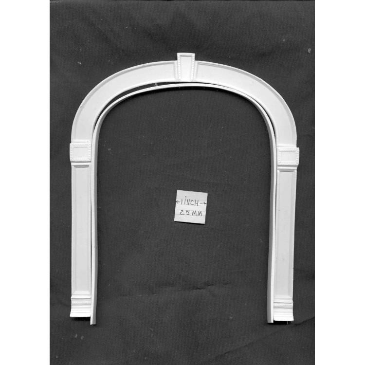 Trim Header UMT2   dollhouse miniatures 1//12 scale polyresin Door Pediment