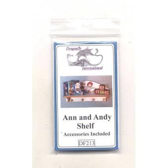 Kit - Ann & Andy Shelf  DF213 dollhouse furniture kit Dragonfly 1/12 scale wood
