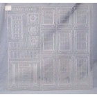 """Georgian Architectural Details 1/24 Half G scale clear styrene  PRE1264 15""""x15"""""""