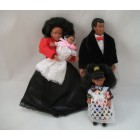 "Victorian Family dollhouse miniature  1"" scale  4pcs 00060  poseable vinyl"