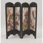 Chinese Screen - Black Flower & Bird dollhouse  miniature S8132 1/12 scale