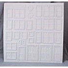 """Victorian Architectural Details 1/24 Half G scale molded styrene PRE1243 15""""x15"""""""