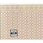 "Brodnax Prints ""Jan"" 1ED101 Edwardian miniature  wallpaper dollhouse 1/12 scale"