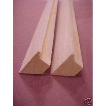 "Staircase Stairs Stock 1/12 scale steps dollhouse trim supplies 24""long 2 pcs"