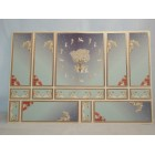World & Model Relief 34801 Wallpaper Panels dollhouse 1p 1/12 scale gold leaf