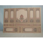 World & Model Relief 34802 Wallpaper Panel dollhouse 1p  1/12 scale