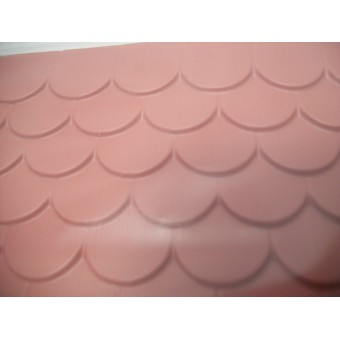 "Red Tile Roof Sheet  - 1/12 scale Model Builders Supply  RT1-12BR - 14""x24"" 1pc"