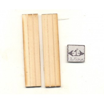 "Shutters - basswood dollhouse miniature 1:12 scale USA made 1""x4-1/2"" 1pair 2009"