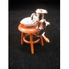 Meat Grinder on Stool  1.466/8 Reutter  miniature dollhouse 1/12 scale