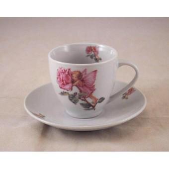 Tea / Coffee Cut w/ Saucer - Rose Fairy -  Reutter Porcelain 66.074/0 NOT a Mini