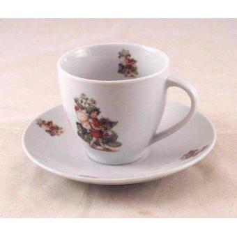 Tea / Coffee Cut w/ Saucer - Strawberry Fairy - Reutter Porcelain 74.074/3