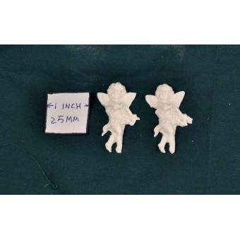 Applique - Cherub 2pk -  UMA16 -  polyresin  1/12 scale  dollhouse miniature
