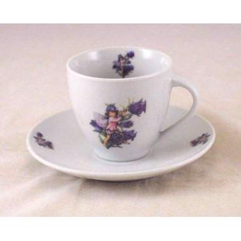 Tea / Coffee Cut w/ Saucer - Canterbury Bell Fairy - Reutter Porcelain 74.074/5
