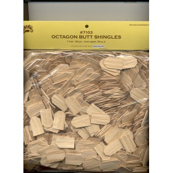 Shingles - Octagonal Butt  Split Wood - 1000pcs 7103 Houseworks 1/12 scale mini