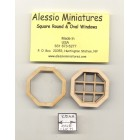 Window -  Octagon Attic - 2134 wooden dollhouse miniature 1:12 scale USA made