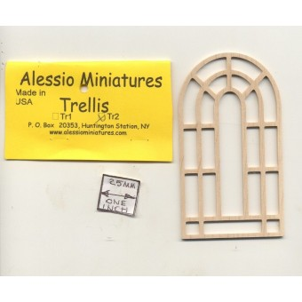 Garden Trellis - TR2 wooden dollhouse miniature 1:12 scale USA made