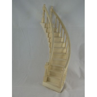 Spiral Staircase Classic wood dollhouse miniature left  CLA70221 1/12 scale step
