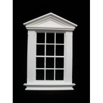 Window: Georgian 12 Pane Pedimented Window Jacksons Miniatures 1/12 scale B05