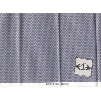 Fabric Brodnax Prints CVT05 - Midnight Shadow - miniature cotton 1/12 scale