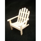 Chair - Adirondack - infinished dollhouse miniature T4619 1/12 scale