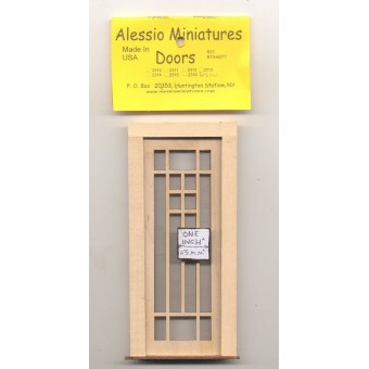 Door - Craftsman - 2330 wood dollhouse miniature 1:12 scale Made in USA