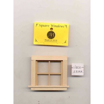 Window - 4 Pane Traditional - 448 wooden dollhouse miniature 1:12 scale USA