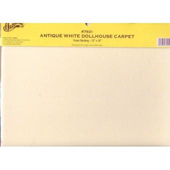 "Carpet - Antique White 12"" x 14""  Floor Sheet #7904 doll miniature 1/12 scale"