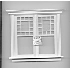 Window by Bespaq 705WOD Craftsman style -  wooden dollhouse miniature 1:12 scale
