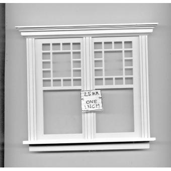 Window by Bespaq 705WOD Craftsman style -  wooden dollhouse miniature 1:12 scale