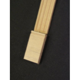 Plinth Block #2   dollhouse molding miniature  10pcs   1/12 scale basswood trim