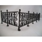"Fence - Wrought Iron Black - dollhouse miniature 1/12"" scale EIWF528 6pcs"