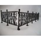 "Fence - Wrought Iron Black - dollhouse miniature 1/12"" scale EIWF528 6pcs"
