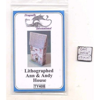 Kit - Ann and Andy House TY408 dollhouse furniture kit Dragonfly 1/12 scale wood