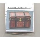 Lithograph Wooden Trunk Kit Western dollhouse miniature 1/12 scale CPT113 - USA